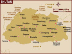 Lonely Planet Map of Bhutan