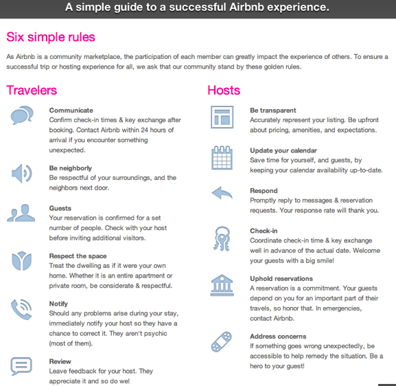 10 reasons why airbnb is an awesome conscious travel for Rental house rules template