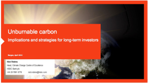 hsbc unburnable carbon