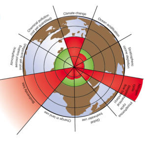 Nine planetary boundaries